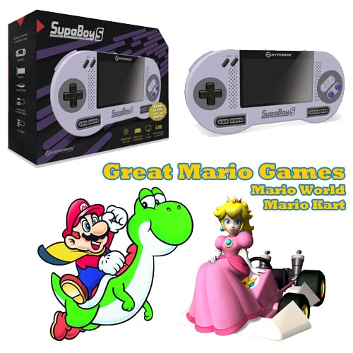 Supaboy with Mario World and Mario Kat on Sale Now.