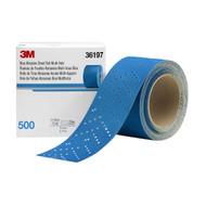 """3Mâ""""¢ Hookitâ""""¢ Blue Abrasive Sheet Roll Multi-hole, 2.75""""x13yd, 500"""