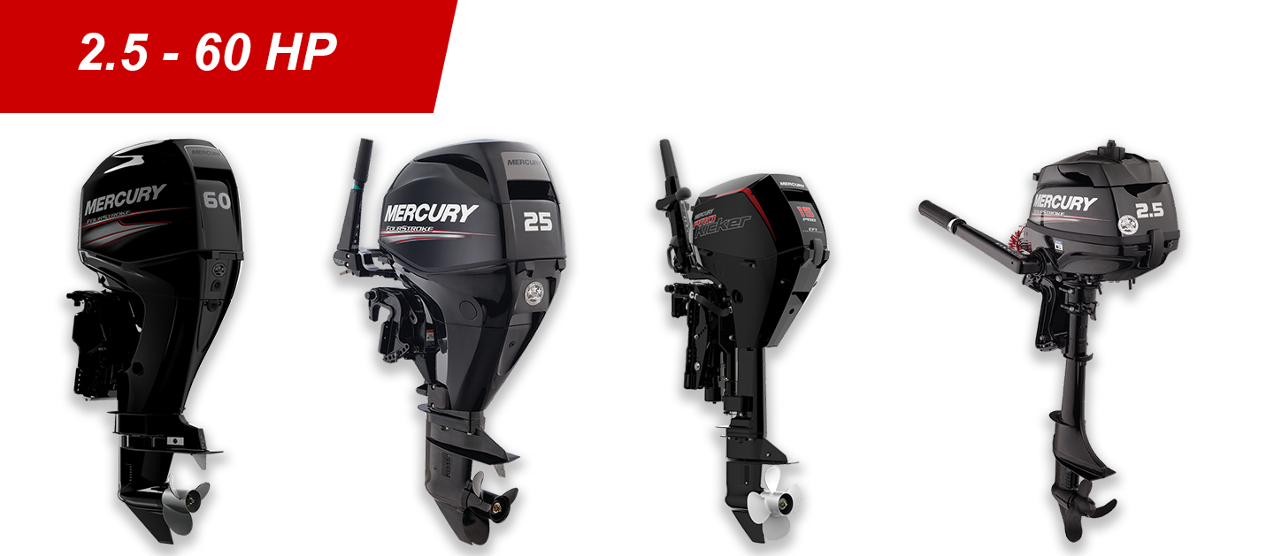 2.5-60hp Mercury Outboards