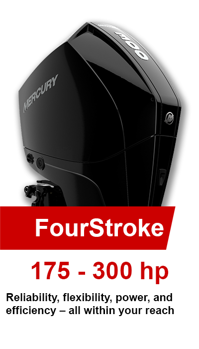 175-300hp FourStroke Mercury Outboards