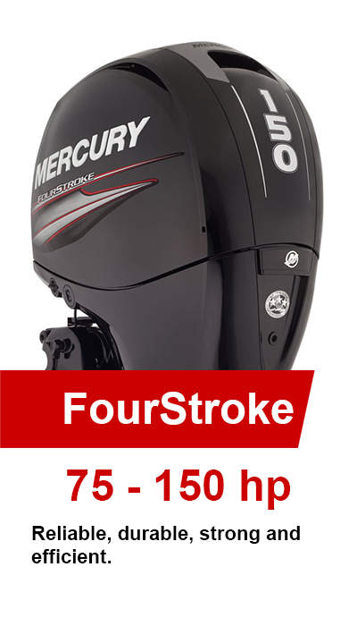 75-150hp FourStroke Mercury Outboards