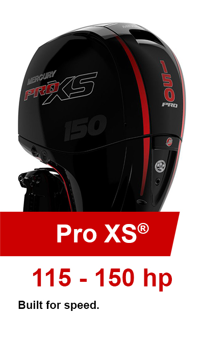 115-150hp Pro XS® Mercury Outboards