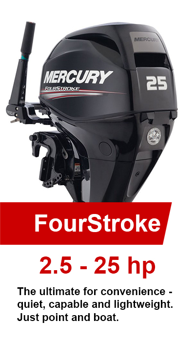 2.5-25hp FourStroke Mercury Outboards