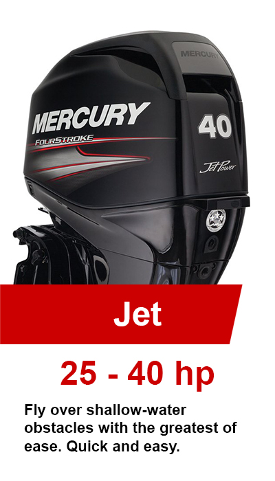 25-40hp Jet Mercury Outboards