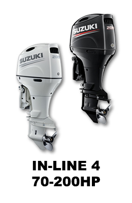 In-Line 70-200HP Suzuki Outboards for Sale