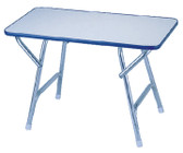 MELAMINE TOP DECK TABLE 16X32 MELAMINE TOP DECK TABLE (GARELICK)