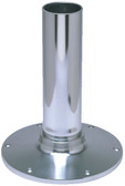 "SEAT BASE ONLY 18IN SMOOTH 2-7/8"" FIXED HEIGHT PEDESTAL SERIES - SMOOTH SERIES (GARELICK)"