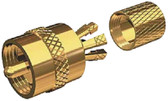 CENTER PIN CONNECTOR FOR PL259 GOLD-PLATED CENTERPIN SOLDERLESS VHF RADIO CONNECTORS (SHAKESPEARE ANTENNAS)