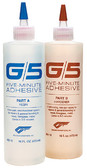 G/5 ADHESIVE  TWO-PART  1/4 PT G/5 FIVE-MINUTE ADHESIVE (WEST SYSTEM)
