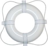 24IN WHITE FOAM RING BUOY LIFE RING BUOY (TAYLOR)