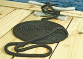 DBL BRD DOCK LINE-BLK-3/8 X15' DOUBLE BRAID NYLON DOCK LINE (SEACHOICE)