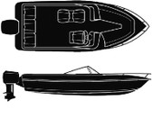 18'6  V-HULL WITH O/B COVER SEMI-CUSTOM V-HULL RUNABOUT O/B - BOAT COVER (SEACHOICE)