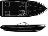 17'6  V-HULL I/O COVER SEMI-CUSTOM V-HULL RUNABOUT I/O - BOAT COVER (SEACHOICE)