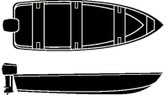 16'6  V-HULL FISH WD COVER SEMI-CUSTOM V-HULL FISHING/WIDE SERIES - COVER (SEACHOICE)