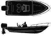 18'6  V-HULL CTR CON BOAT COV SEMI-CUSTOM V-HULL CENTER CONSOLE - BOAT COVER (SEACHOICE)