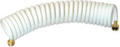 15'WHTE WASH DOWN COILED HOSE COILED WASH DOWN HOSE (T-H MARINE)