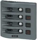 PANEL WD 12VDC CLB 4 POS GRAY WEATHERDECK WATER RESISTANT BREAKER PANEL (BLUE SEA SYSTEMS)