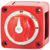 SWITCH BATT MINI ON/OFF W/KNOB M SERIES MINI BATTERY SWITCH (BLUE SEA SYSTEMS)