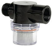 WATER FILTER - 1/2  PIPE INLE STRAINER (SHURFLO)