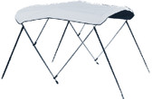 "3 BOW TA54IN 79-84 WH VNYL TP 54"" HIGH 3 BOW FULLY ASSEMBLED BIMINI TOP (CARVER COVERS)"