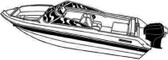 V-19 O/B POLY-GUARD COVER V-HULL RUNABOUTS WITH WINDSHIELD & HAND or BOW RAILS – (Including Eurostyle) (CARVER COVERS)