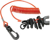 7 KEY KILL SWITCH LANYARD REPLACEMENT COIL LANYARD (SEACHOICE)