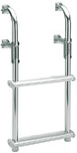 2 STEP FOLDING TRANSOM LADDER FOLD-DOWN TRANSOM LADDER FOR SMALL BOATS (GARELICK)