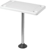 TABLE KIT-RECTANGULAR OFF-WHT RECTANGULAR SURFACE MOUNT TABLE & PEDESTAL KIT (DETMAR)