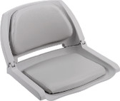 MOLDED PLASTIC SEAT GREY MOLDED PLASTIC FOLD-DOWN SEAT W/CUSHION PADS (WISE SEATING)