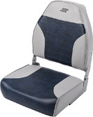 HIGH BACK SEAT GREY/NAVY MID BACK BOAT SEAT (WISE SEATING)