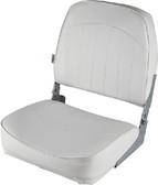 ECONOMY SEAT GRY/RED ECONOMY FOLD DOWN FISHING SEAT (WISE SEATING)
