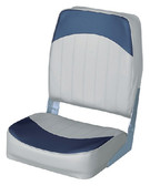 ECONO HIGH BACK GREY/NAVY ECONOMY HIGH BACK FOLD DOWN FISHING CHAIR (WISE SEATING)