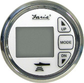 CH SS WHT DEPTH-AIR WATER TEMP DIGITAL DEPTH SOUNDER WITH AIR & WATER TEMPERATURE (FARIA INSTRUMENTS)