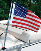 30IN PONTOON RAIL POLE AND FLA PONTOON FLAG POLE SOCKET WITH FLAG (TAYLOR)