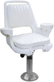 EXWD CHAIR W/MTG PLT & 15  PED CAPTAIN'S CHAIR PACKAGE WITH CUSHIONS (WISE SEATING)