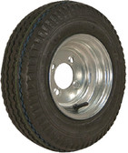 """480-8 B/4H GALV K371 8"""" BIAS TIRE AND WHEEL ASSEMBLY (LOADSTAR TIRES)"""