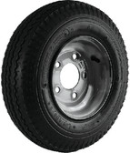 """480-8 B/5H GALV K371 8"""" BIAS TIRE AND WHEEL ASSEMBLY (LOADSTAR TIRES)"""