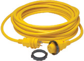 30A SHORE POWER CORD YEL 50FT 30A 125V POWERCORD PLUS CORDSET WITH LED (MARINCO)