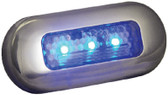 LED OBLONG COURTESY BLU-SS BEZ LED OBLONG COURTESY LIGHTS (T-H MARINE)