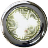 LED PUCK LIGHT SS 3IN WARM WHT STAINLESS LED PUCK LIGHTS (T-H MARINE)
