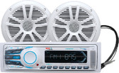"MECHLESS BLUETOOTH MAR PKG BLUETOOTH DIGITAL MEDIA AM/FM/USB/MP3/SD/AUX MECH-LESS STEREO PKG w/ 6-1/2"" SPEAKERS (BOSS AUDIO SYSTEMS)"
