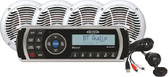 BT STEREO W/4 SPEAKERS AM/FM/USB/BLUETOOTH STEREO PACKAGE W/4 SPEAKERS (JENSEN)