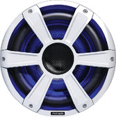 """SUBWOOFER-PERF 10  LED WHITE 10"""" SIGNATURE SERIES SUBWOOFER WITH LED LIGHTS (FUSION ELECTRONICS)"""