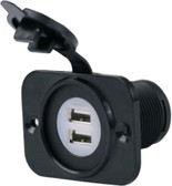 12-24V DUAL USB REC W/PLATE DUAL USB POWER ADAPTER (BEP)