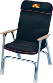 DECK CHAIR-PADDED BLACK PADDED FOLDING DECK CHAIR (GARELICK)