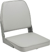 PADDED FISH SEAT GRAY LOW BACK FOLD DOWN FISHING SEAT (ATTWOOD)