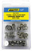 KIT 49 PC CANVAS SNAP W/TOOL CANVAS SNAP KIT WITH TOOL - 49 PIECE (SEACHOICE)