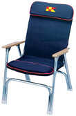 PADDED DECK CHAIR NAVY W/RED PADDED FOLDING DECK CHAIR (GARELICK)
