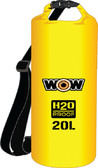 DRYBAG 20L YELLOW 11.5''X16'' H2O PROOF DRYBAGS (WOW SPORTS)