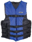 4-BELT SKI VEST BLUE S/M TYPE III 4-BELT SKI VEST (SEACHOICE)